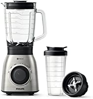 Philips Viva Collection Blender HR3556, Strong 900W motor, 2L Glass Jar with finer blending to include more fruit & veg,...