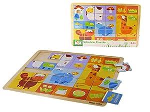 Allkindathings 7519 Wise Cube - Puzle Cuadrado de Madera para niños (31 Piezas)