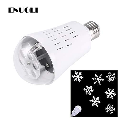 ENUOLI neueste LED-Projektor Auto Rotating Projektorlampe Lampensnowflake E27 -