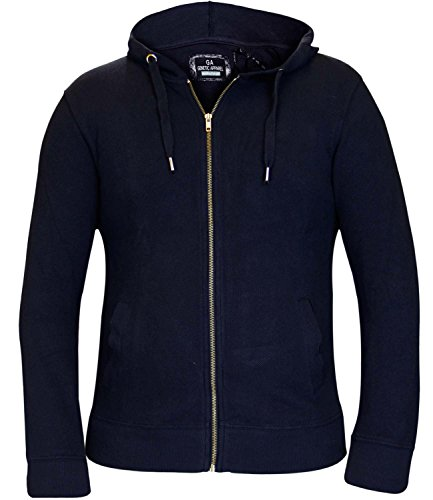 Genetic Apparel -  Felpa con cappuccio  - Uomo blu navy