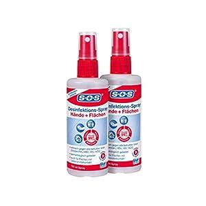 SOS Desinfektions-Spray: Desinfektionsmittel zur gründlichen und schnellen Hand- & Flächendesinfektion, 2 x 100ml