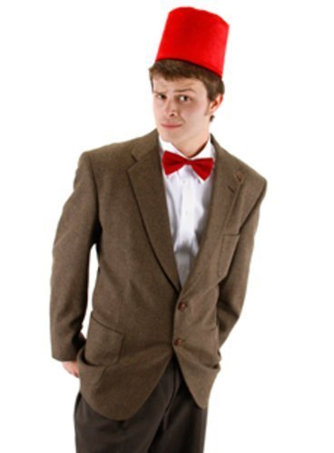 (11th Doctor Who Fez And Bow Tie Kit Costume Matt Smith Adult Mens Dr. Hat by MyPartyShirt)