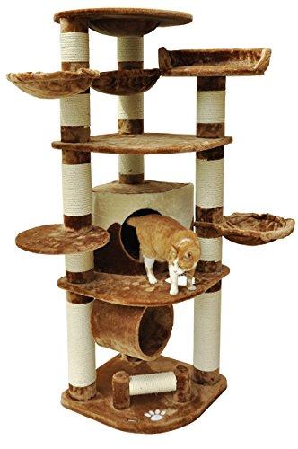 *nanook Gigant – Katzen-Kratzbaum XXL (190 cm), Premium Qualität, Ø 15 cm Sisalstämme, extrem stabil, für große schwere Katzen – braun*