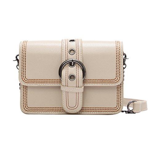Mode PU Leder Schultergurt Verstellbare Kleine Quadratische Tasche Damen Reiseparty Schulter Umhängetasche (19 * 10 * 15 Cm)