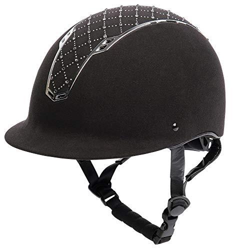 Harry\'s Horse Sicherheitsreithelm, Centaur Argyle mit Strass (M-L, schwarz-Silber)