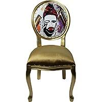 Harald Glööckler Pompöös de Casa Padrino Luxury Baroque Dining Chair Gold - Pompööser Baroque Chair diseñada