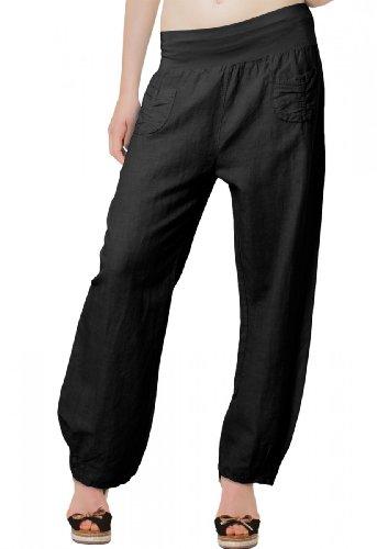 caspar-khs006-pantalon-leger-large-en-lin-pour-femme-pantalon-en-tissu-avec-large-bande-stretch-a-la