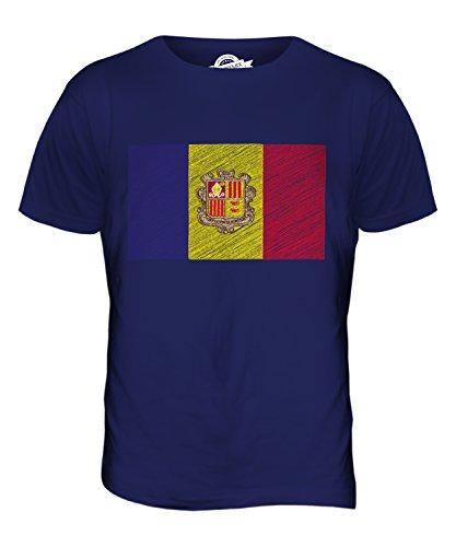 CandyMix Andorra Kritzelte Flagge Herren T Shirt Navy Blau
