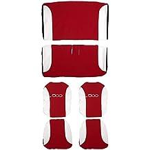 Lupex Shop 500_R.Bi - Fundas de asientos bicolor, rojo / blanco