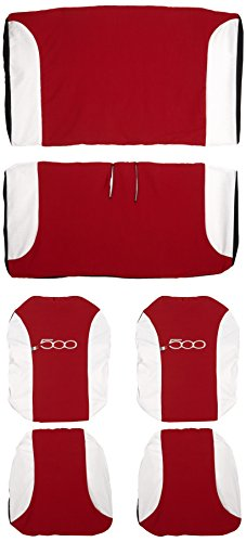 Lupex Shop 500_R.Bi Coprisedili Bicolore, Rosso/Bianco