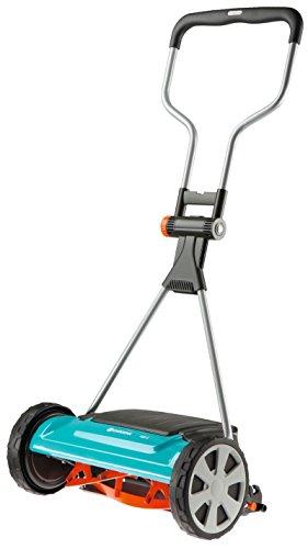 GARDENA 04022-20 Comfort Spindelmäher 400 C, für Rasenflächen bis 250 m², 40 cm Schnittbreite, Rasenmäher mit berührungsloser Schneidtechnik, besonders geräuscharm und extra leicht zu schieben, zusätzlicher Deflektor für kontrollierten Grasauswurf