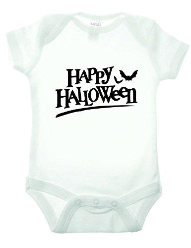 Bullshirt Happy Halloween Bat Short Sleeve Strampler weiß weiß 18-24 Monate