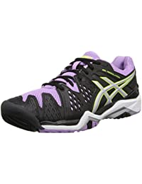 Asics Gel-Resolution 6 Mujer US 5.5 Negro Zapato de Tenis