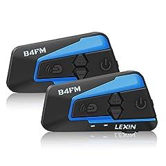 Idea Regalo - LEXIN LX-B4FM interfono moto, moto auricolare bluetooth con FM, interfono Bluetooth per moto fino a 4 riders, casco interfono bluetooth con cancellazione del rumore, comunicazione Bluetooth per moto