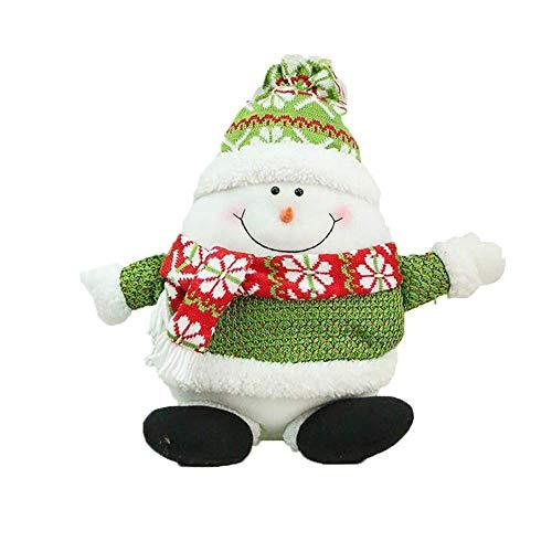 Schneemann-kissen (Cushion Covers Home Weihnachten Thema Kissen, Schneemänner Elch Santa Xmas Pentagram weiche Wurfkissen Sitz Rücklehne Sofa Auto Kissen Geschenk Home Decor (Color : C))