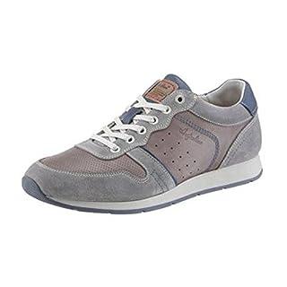 Australian Sneaker aus Leder und Veloursleder in Grau Used (45)