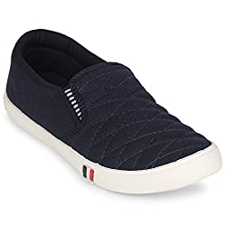 Scantia Womens Casual Blue Artificial leather Loafers Shoes -7_Casual Shoes with stylish look New Latest Fashionable Trail Casual Fitness shoes comfortable to Wear with Attractive look shoe for Party or Carry in Daily Life