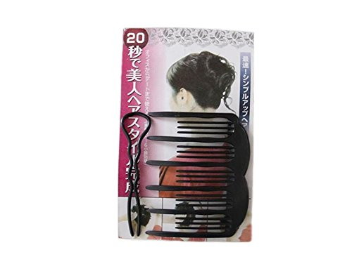XYLUCKY 5 Stück Plastikscheibe Haar-Vorrichtung Haarnadel lnsert Kamm- / Haar-Halter, Schwarzes (1 Zoll Roll-klettverschluss 2)