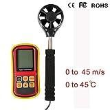 GOMOV Numérique Anémomètre USB De Split Handheld LCD Vitesse du Vent Mètre avec...