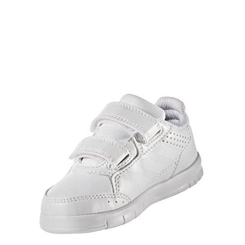 adidas Altasport Cf, Baskets Garçon blanc/blanc/gris clair