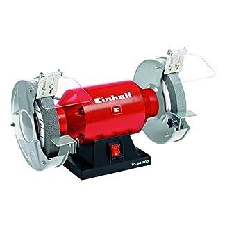 Einhell TH-BG 200 – Esmeriladora, disco 200 mm, 400 W, 230 V, color rojo y negro