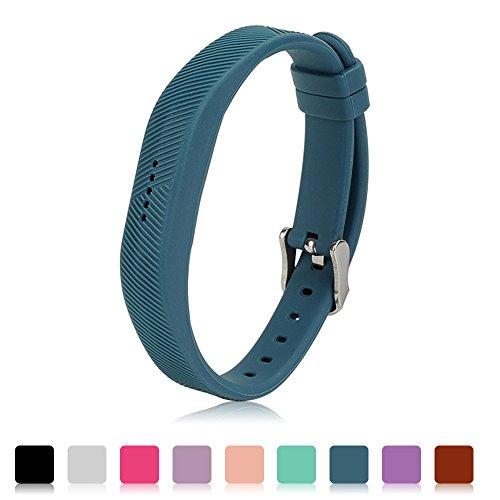 Für Fitbit Flex 2 Zubehör Ersatz Armband - iFeeker Classic Weiche Silikon Metall Schließe Uhr Buckle Design Armband Halter Tasche für 2016 Fitbit Flex 2 Fitness Activity Tracker