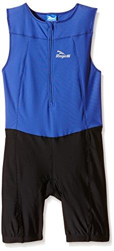 Rogelli Triathlon - Singe de triathlon, couleur bleue, printemps / été, bébé, couleur noir - noir et bleu, taille 140 / 152