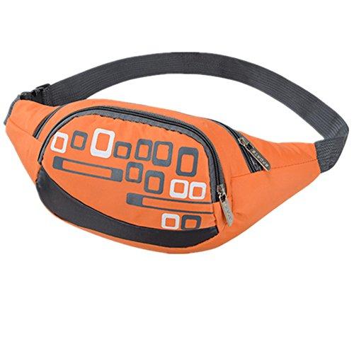 Life-time Unisex Multifunktionale Wasserdichte Taille Tasche zum Joggen, Wandern, Klettern, Radfahren Orange