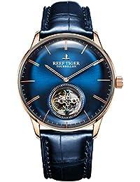 Reef Tiger RGA1930 - Reloj de Pulsera para Hombre (Esfera Azul 40467f5260a9