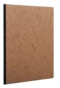 Clairefontaine AGE BAG 79146C Cahier broché lignées couverture imitation grain cuir 192 pages 90 g A4 Marron