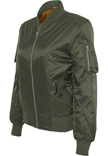 Ladies Basic Bomber Jacket olive XS Olive Womens Beanie