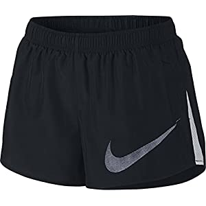 41ICPfaG2HL. SS300  - Nike W NK Dry City Core Shorts for Woman, Black (Black/White), M