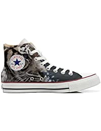 mys Converse All Star Customized, Sneaker Unisex, printed Italian style with White Tiger