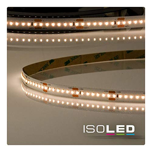 LED Strip Linear-ST - Tira de luces LED (3000 K, 24 V, 8 W/m, 5 m, 3500 lúmenes, CRI92, intensidad regulable, no se puede separar cada 3,3 cm, IP20, 1050 ledes), color blanco cálido