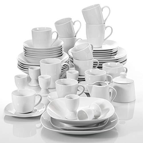 Malacasa, serie elisa, servizio da tavola in porcellana servizio da 100 pezzi in combinazione