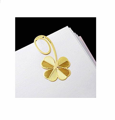 Jakerbing Kreativ Bookmark Lucky Hollow Grass Clovers Metall Lesezeichen -Gold