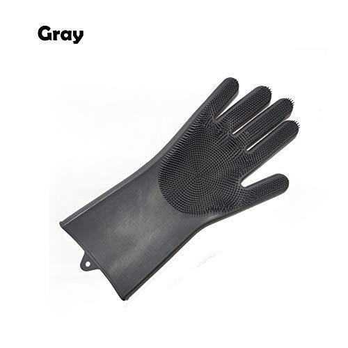 Geschirrspüler Reinigungsschwamm Handschuhe, Silikon Geschirrschrubber Handschuh für Geschirrwäsche, Küche Bad Reinigung Rechts #04 - Desinfizieren Geschirrspüler