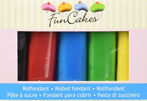 FunCakes Rollfondant Multipack Essential Colours, 2er Pack (2 x 500 g)