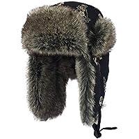 Zxcvb Gorro de Invierno para Mujer Gorro cálido Lei Feng Sombrero Noreste Orejeras frías Hombres Montar a Prueba de Viento Gorra de algodón (Color : Negro, tamaño : One Size)