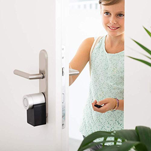 Nuki Smart Lock 2.0 - Cerradura inteligente vía Bluetooth, incluye sensor de puerta, para iPhone y Android, Smart Home