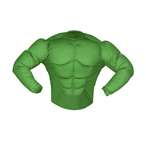 Superhelden Kinderkostüm Muskelkostüm Monster 128 cm 5-7 Jahre Comic Superheldenkostüm grün Hulk Kostüm Karnevalskostüme Kinder Jungen Superheld Halloween Verkleidung Sixpack Muskel Shirt