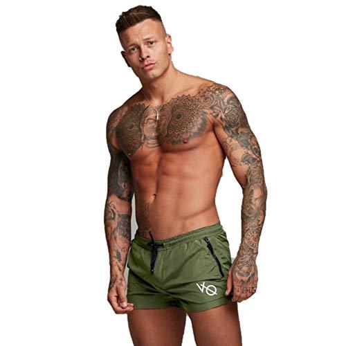 Ducomi Bob Badehose für Herren - Doppeltasche und Badeshorts - Kurze und Elastische Schnelltrocknungsshorts - Boxer für Schwimmen, Beachvolleyball, Strand und Surfen (Grün, (Mädchen Kostüm Lifeguard)