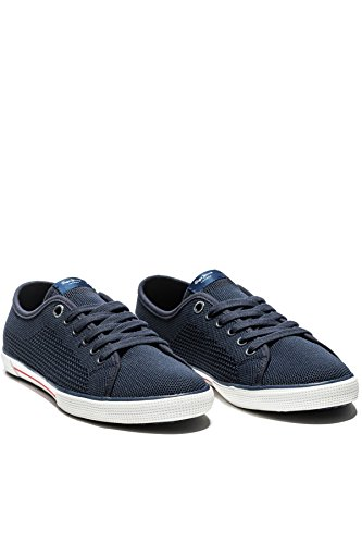 Pepe Jeans London Aberman Knit, Baskets Basses Pour Homme Bleu