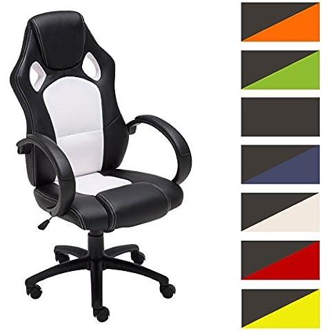 CLP Silla de oficina FIRE, asiento de LUJO ajustable en altura con un revestimiento de cuero sintético, 7 colores para elegir