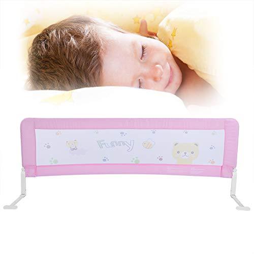 Safety 1st Bettschutzgitter, Baby Kinder Bett Bettgitter Bettschutzgitter Schutzgitter Bed-Rail Klappbar beim Schlafen passend für Kinder-Eltern-Bett 150x64CM Rosa