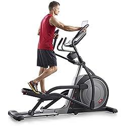 Proform Trainer 7.0 Vélo elliptique, roue avant, compatible Bluetooth Appli iFit Cardio, rampe d'inclinaison motorisée 0-20°, 20 niveaux de résistance, 28 programmes, Usage Sport, Fitness, Bien-être