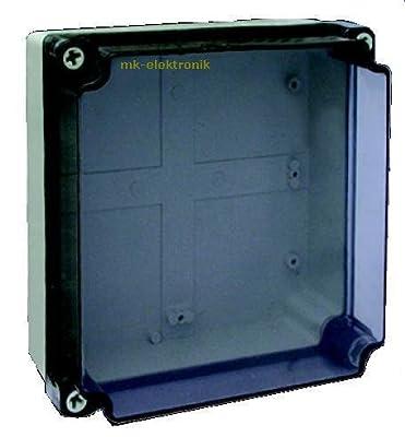 Feuchtraum Verdrahtungsgehäuse Abzweigkasten Schaltkasten Kunststoffgehäuse 200x200x100mm von MKV - Lampenhans.de