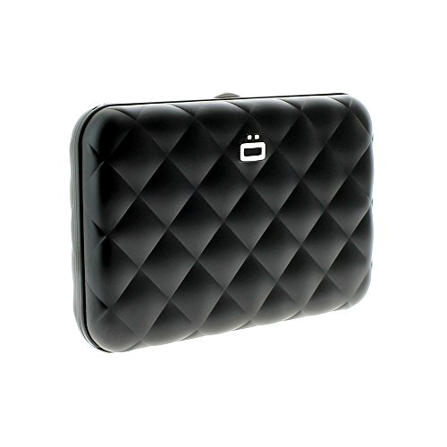 Ögon Design Aluminium-Kartenetui gesteppt black (Gesteppte Brieftasche)