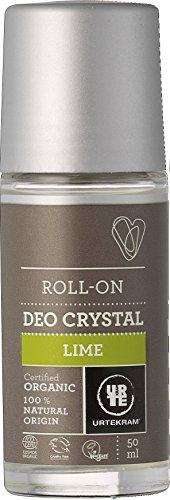 Natürliche Mineralsalze Genießen (Urtekram Limonen-Deokristall Bio, Roll-On, 50 ml)