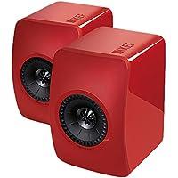 KEF LS50 - Altavoces (Rojo, Alámbrico, 47 - 45000 Hz, De 2 vías)